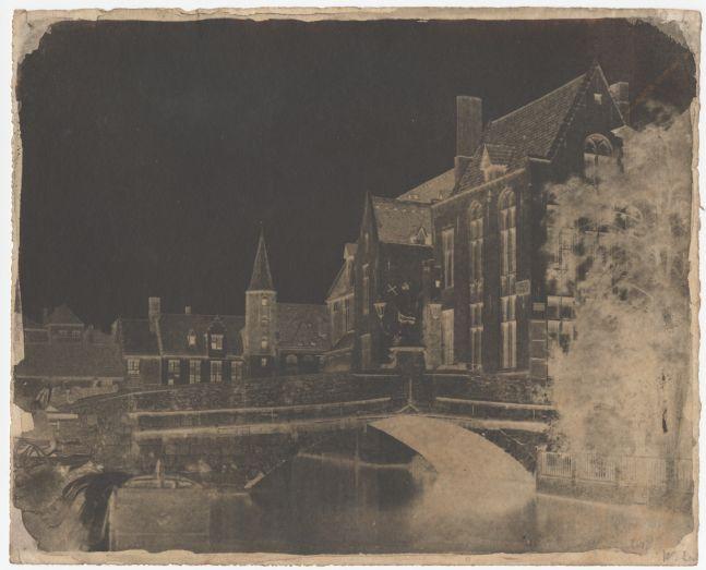 "Rev. Calvert Richard JONES (Welsh, 1802-1877) ""Pont. S. Jean. Bruges"", circa 1854-1855 Calotype negative 18.8 x 23.5 cm"