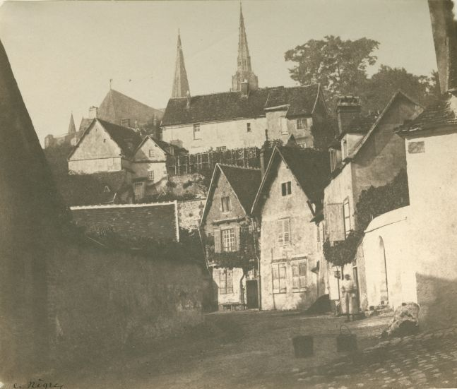 """Charles NÈGRE (French, 1820-1880) Clôitre Saint-André, Chartres, probably summer 1851 Salt print from a paper negative 12.1 x 14.5 cm Signed """"C. Nègre"""" in ink. Inscribed """"A-29"""" and """"No. 27"""" by André Jammes on verso."""