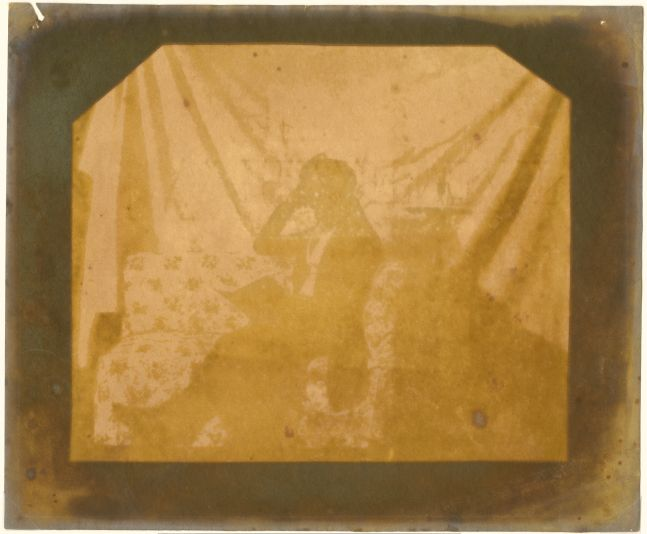 William Henry Fox TALBOT (English, 1800-1877) Nicolaas Henneman reading on a couch, 2 October 1841 Salt print from a calotype negative 14.9 x 17.7 cm on 18.8 x 22.7 cm paper