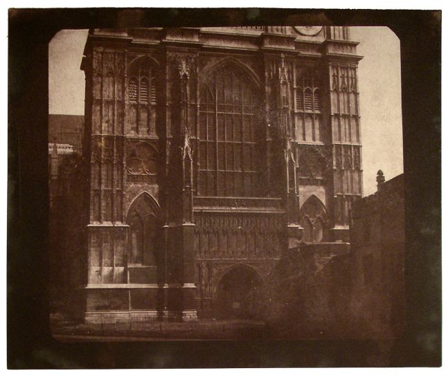 """Nicolaas HENNEMAN (Dutch, active in England, 1813-1898) Westminster Abbey, prior to May 1844 Salt print from a calotype negative 16.2 x 18.2 cm on 18.6 x 22.4 cm paper """"LA22"""" in ink on verso"""