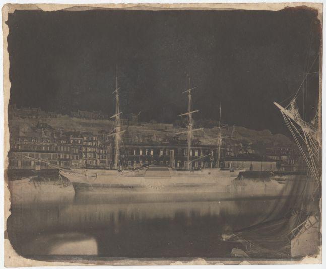 Rev. Calvert Richard JONES (Welsh, 1802-1877) Paddle wheel steamer, Boulogne, perhaps August 1855 Calotype negative 19.5 x 23.8 cm