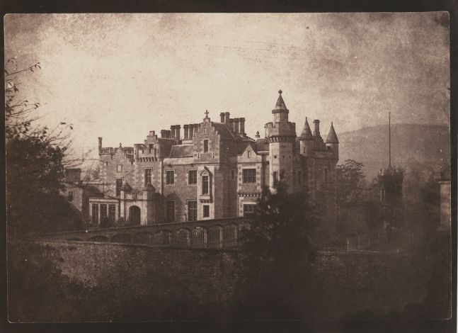 "William Henry Fox TALBOT (English, 1800-1877) ""Abbotsford"", 1844 Salt print from a calotype negative 15.3 x 22.0 cm on 18.5 x 22.9 cm paper Titled in pencil, and ""LA27"" in black ink, on verso"