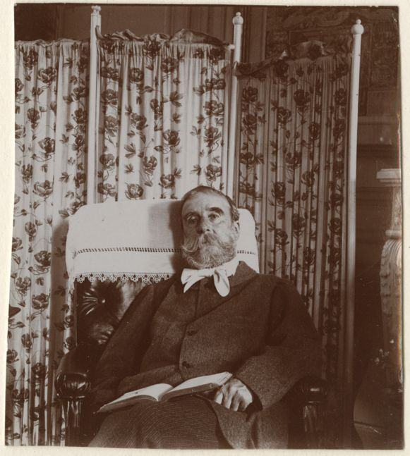 Attributed to Edgar DEGAS (French, 1834-1917) Ludovic Halévy, circa 1895-1896  Gelatin silver printing-out paper print 8.2 x 7.4 cm