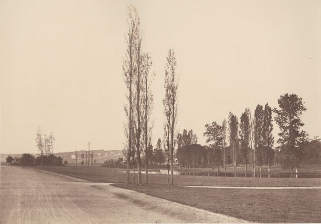 Charles MARVILLE (French, 1813-1879) Paysage du Bois de Boulogne, 1858 Albumen print from a collodion negative 25.0 x 35.8 cm mounted on 41.0 x 58.0 cm paper