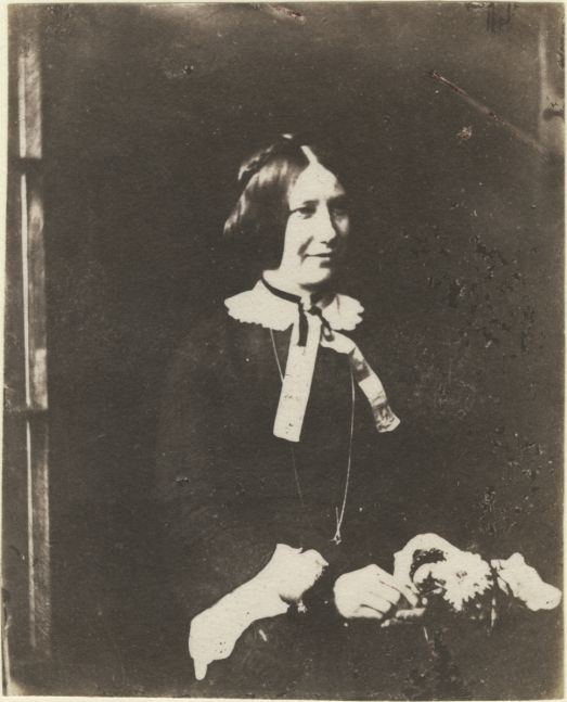 Rev. Calvert Richard JONES (Welsh, 1802-1877) Chiaroscuro portrait, possibly Anne Harriet Jones, early 1850s Salt print from a glass (?) negative 10.0 x 8.1 cm
