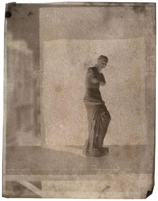 John Beasley GREENE (American, born in France, 1832-1856) Venus de Milo on rooftop in Paris, 1852-1853 Waxed paper negative 31.1 x 24.3 cm