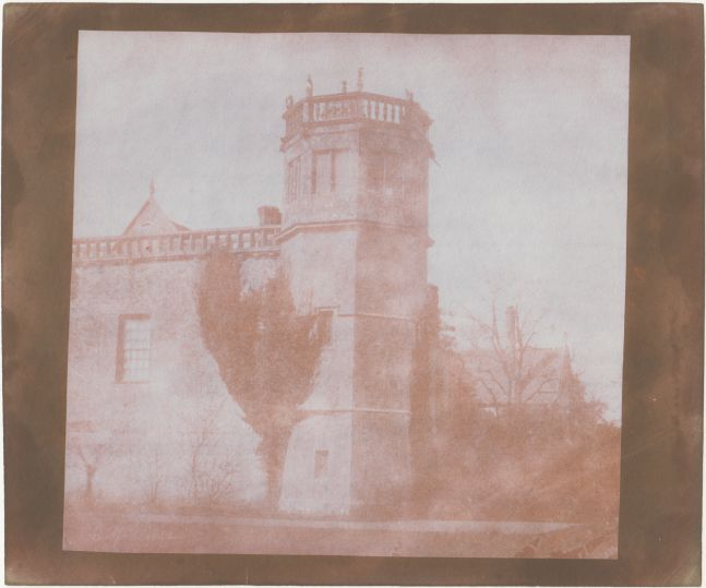William Henry Fox TALBOT (English, 1800-1877) Sharington's Tower, Lacock Abbey, 6 April 1842 Salt print from a calotype negative 16.8 x 17.8 cm on 18.8 x 22.5 cm paper Dated by Talbot in the negative