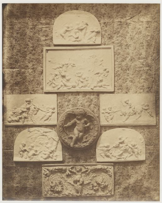 Hippolyte BAYARD (French, 1801-1887) Composition with bas-reliefs, 1855 Albumen print 24.4 x 19.5 cm mounted on 47 x 34.2 cm paper