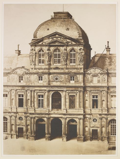 Charles NÈGRE (French, 1820-1880) Pavillon de l'Horloge, Louvre, Paris*, circa 1855 Salt print from an albumen on glass negative 70.2 x 53.0 cm mounted on 101.0 x 72.5 cm paper