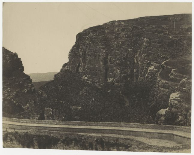 John Beasley GREENE (American, born in France, 1832-1856) El-Kantara Bridge, Constantine, Algeria*, 1855-1856 Lightly coated salt print from a paper negative 23.5 x 29.4 cm
