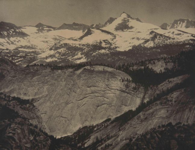 """Alvin Langdon COBURN (English, born American, 1882-1966) In the High Sierra, Yosemite*, circa 1911 Coated platinum print 31.2 x 40.2 cm tipped onto 33.7 x 41.7 cm paper Inscribed """"Acc. 67.157.8 (copy A)"""" in pencil on verso"""
