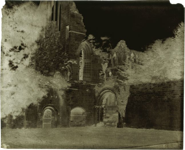 Attributed to Dr. Thomas KEITH (Scottish, 1827-1895) Dryburgh Abbey, The Cloisters, 1853-1856 Waxed paper negative 22.2 x 27.0 cm
