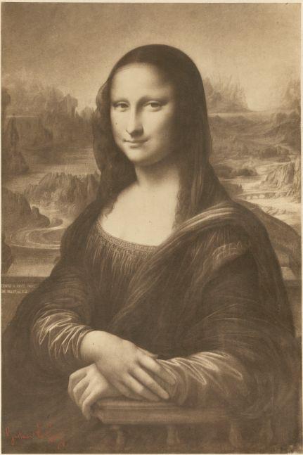 Gustave LE GRAY (French, 1820-1884) La Joconde, d'après un dessin d'Aimé Millet, 1854-1855 Coated salt or albumen print