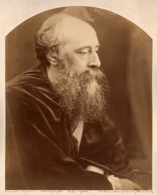 """Julia Margaret CAMERON (English, born in India, 1815-1879) George Frederic Watts, October 1865 Albumen print from a wet collodion negative 35.5 x 28.5 cm, arched top, mounted on 58.2 x 46.4 cm card, ruled in gilt Signed and inscribed """"From life registered photograph copy right"""" in ink, and captioned """"G. F. Watts"""" in pencil, with Colnaghi blindstamp on mount. Red crayon cross on mount verso."""