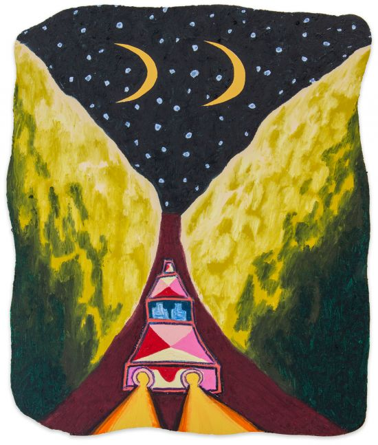 Eliot Greenwald, Night Car (beach fire)