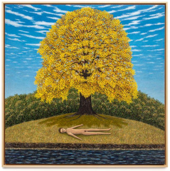 Scott Kahn, Resting by the Stream, 1985