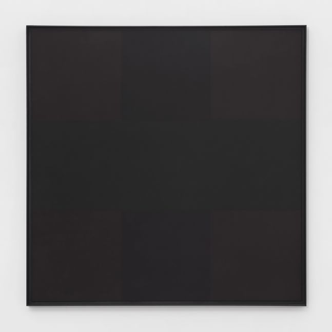 Square black oil on canvas painting by Ad Reinhardt