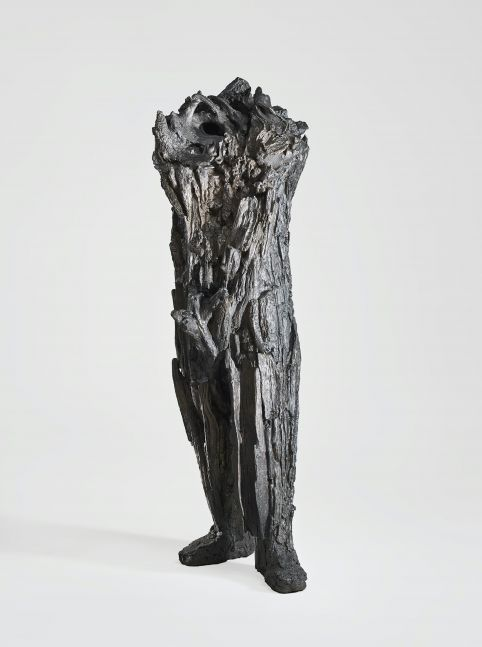 Cast bronze sculpture resembling human body by Michele Oka Doner.