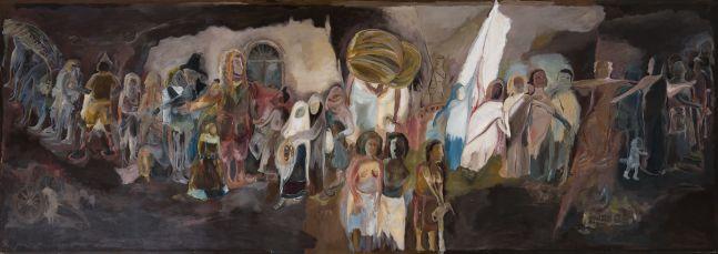 SOSA JOSEPH  Where are we going, 2015  Oil on canvas  72 x 60 in / 183 x 152.5 cm