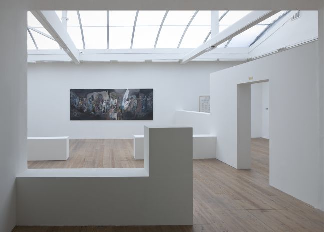 SOSA JOSEPH, Where are we going, 2015, oil on canvas, 72 x 60 in / 183 x 152.5 cm   Installation view  KAMARADO, Stedelijk Museum Bureau Amsterdam
