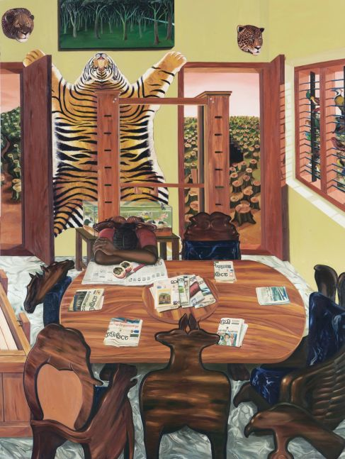 RATHEESH T., Silent Revolution, 2006, oil on canvas, 245 x 183 cm / 96.4 x 72 in