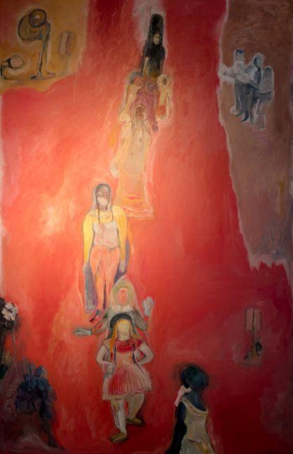 SOSA JOSEPH  Dancer, 2016  Oil on canvas  89 x 58 in / 226 x 147.3 cm