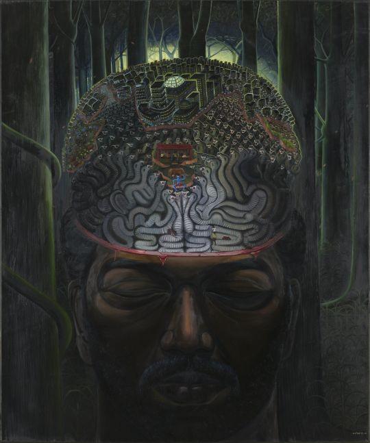 RATHEESH T., Self-Portrait, 2009, oil on canvas