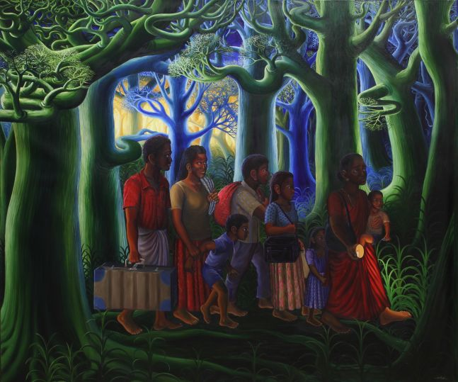 RATHEESH T.  Memory, 2010  Oil on canvas