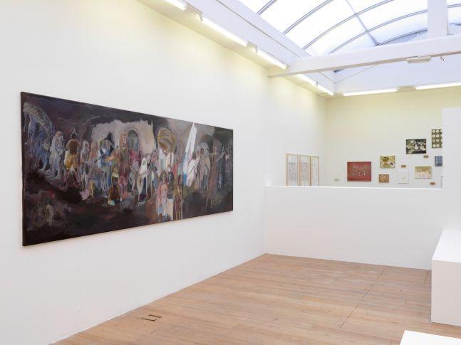 SOSA JOSEPH, Where are we going, 2015, oil on canvas, 72 x 60 in / 183 x 152.5 cm, Installation view  KAMARADO, Stedelijk Museum Bureau Amsterdam