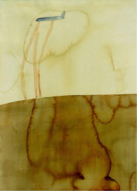 Atul Dodiya, 'Civitella Ranieri', 1999, Watercolours, beige coloured watercolour, dark beige, light beige