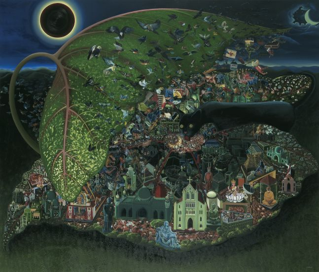 RATHEESH T., Smiling Land, 2010, Oil on canvas