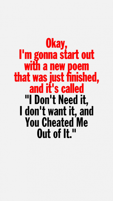 Excerpt from John Giorno performing I Don't Need it, I don't want it, and You Cheated Me Out of It, 1981