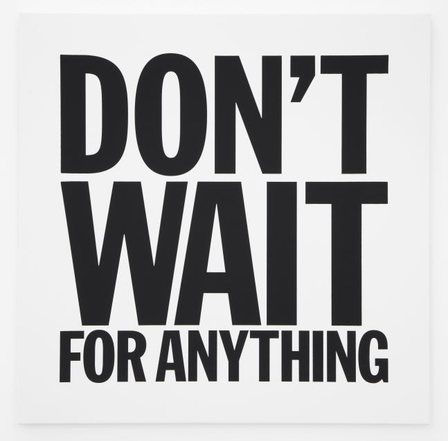 John Giorno, DON'T WAIT FOR ANYTHING, 2012