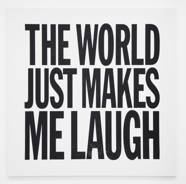 John Giorno, THE WORLD JUST MAKES ME LAUGH, 2012