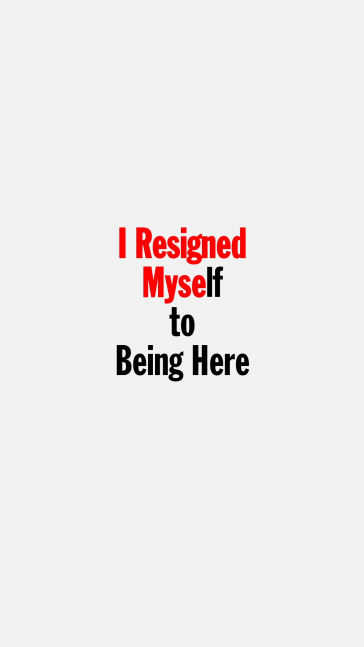 Excerpt from John Giorno performing I Resigned Myself to Being Here, 1980