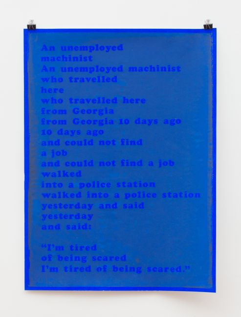I'm Tired of Being Scared (blue Dayglo), 1969