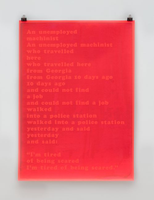 I'm Tired of Being Scared (red Dayglo), 1969