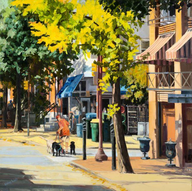 Elaine Lisle, Rittenhouse Hardware  24″ x 24″  Oil On Canvas