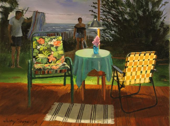"""Larry Francis, Evening  12"""" x 16""""  Oil On Canvas"""