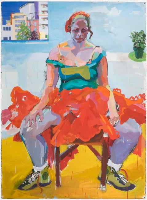 "Joan Becker, The Dancer 72"" x 50""  Gouache On Board"