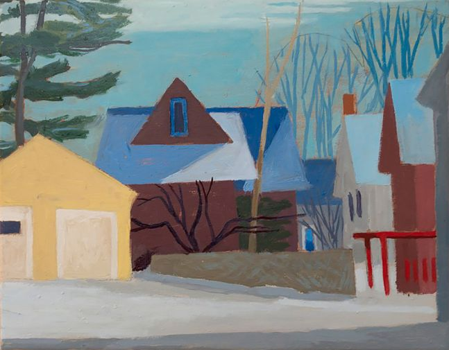 """Celia Reisman, S Roy Street  11"""" x 14""""  Oil On Canvas"""