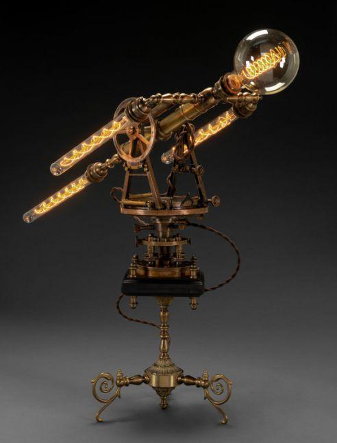 illuminated antique sculpture