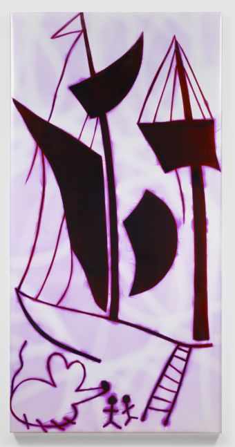 HADI FALLAHPISHEH  The Port of America 2020 Light drawing on photo sensitive paper  213.5 x 106.5 x 5 cm / 84 x 42 x 2 in  FALLA46764