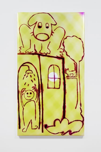 HADI FALLAHPISHEH  Shower in Village 2020 Light drawing on photo sensitive paper  195.5 x 106.5 x 5 cm / 77 x 42 x 2 in  FALLA46763