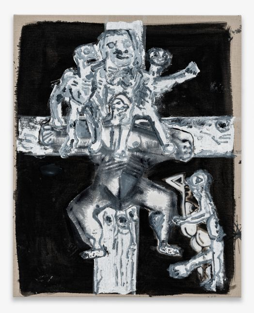 UNTITLED (CRUCIFIXION) 2020 Mixed media on canvas 114.5 x 92.5 x 3 cm / 45 1/8 x 36 3/8 x 1 1/8 in