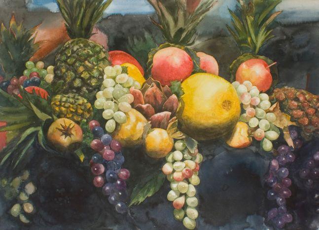 "Florist Still Life  29.5"" x 41.5""  Watercolor"
