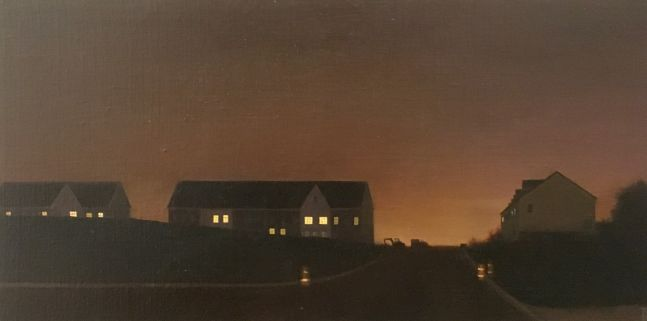 "Brickyard  12"" x 24""  Oil On Linen-Mounted Panel"