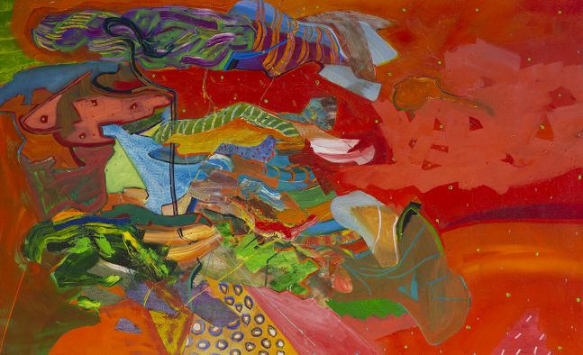 """Artist Benjamin Passione, 30"""" by 48"""", Oil On Canvas, Titled As The Birds Fly"""