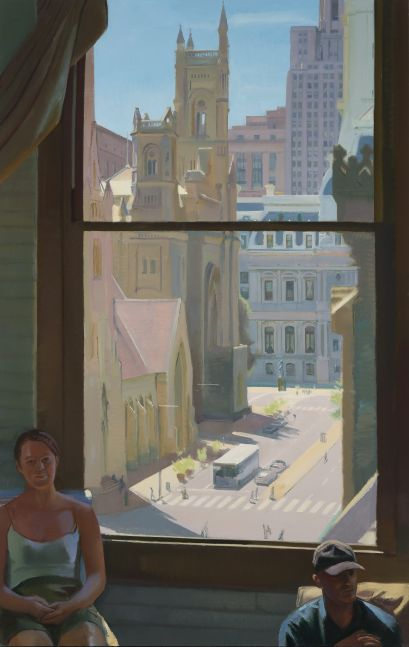 """Ben And Patrice In August  82"""" x 52""""  Oil On Linen"""