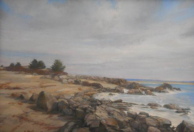 """Rocks On The Shore  16"""" x 24""""  Oil On Canvas"""